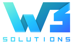 w3 solutions logo color