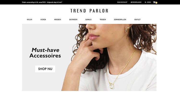 Trend Parlor website voorbeeld