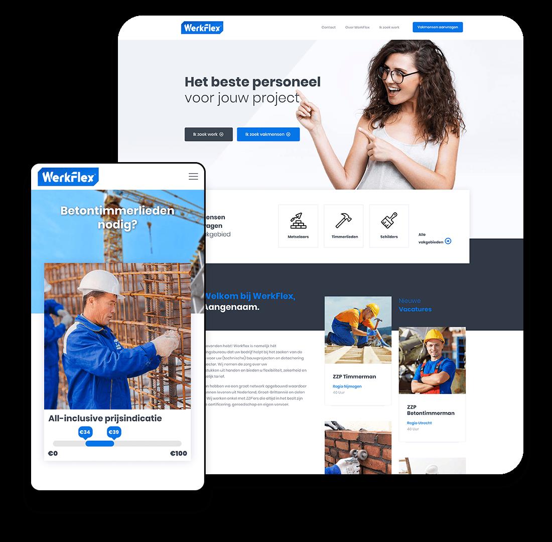 WerkFlex website voorbeeld