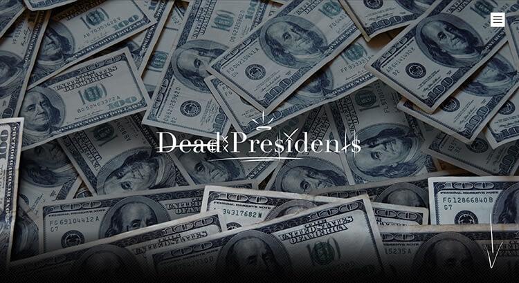 Dead Presidents website voorbeeld