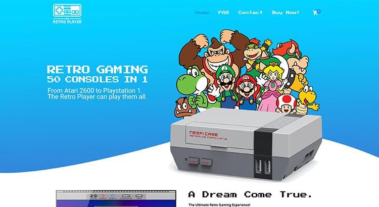 The Retro Player website voorbeeld